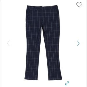 Amanda&Chelsea Windowpane Print Straight Crop Pant